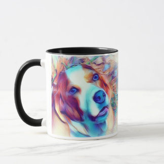 I love basset hounds mug