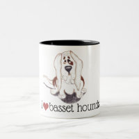 I love basset hounds mug classic 11oz