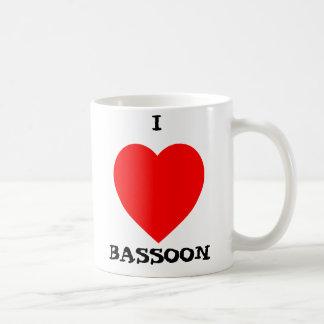 I Love Bassoon Coffee Mug