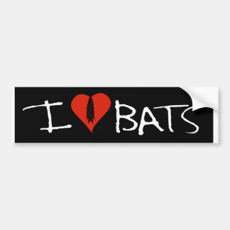 I love bats bumper sticker