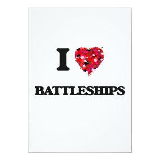 "I Love Battleships 5"" X 7"" Invitation Card"