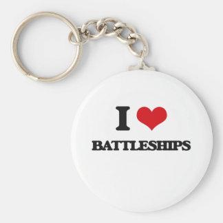 I Love Battleships Keychains