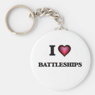 I Love Battleships Keychain