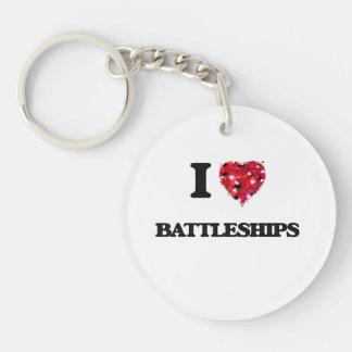 I Love Battleships Single-Sided Round Acrylic Keychain