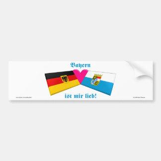 I Love Bavaria / Bayern ist mir lieb Bumper Sticker