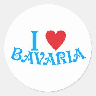I love Bavaria Classic Round Sticker