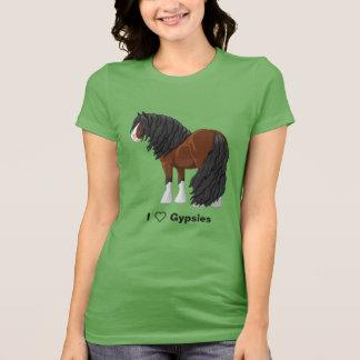 I Love Bay Gypsy Vanner Draft Horses T-Shirt