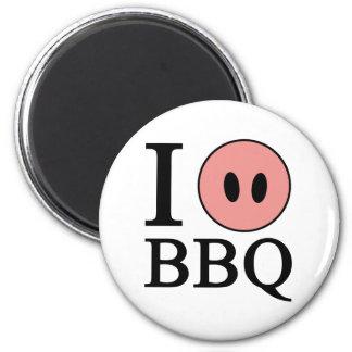 I Love BBQ 2 Inch Round Magnet