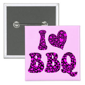 I love bbq 2 inch square button