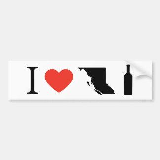I Love BC Wine Bumper Sticker
