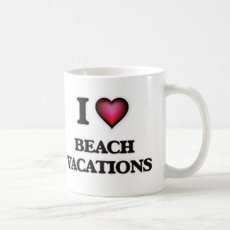 I Love Beach Vacations Coffee Mug