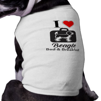 I love Beagle Bed & Breakfast doggie shirt