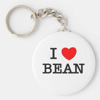 I Love Bean Keychain