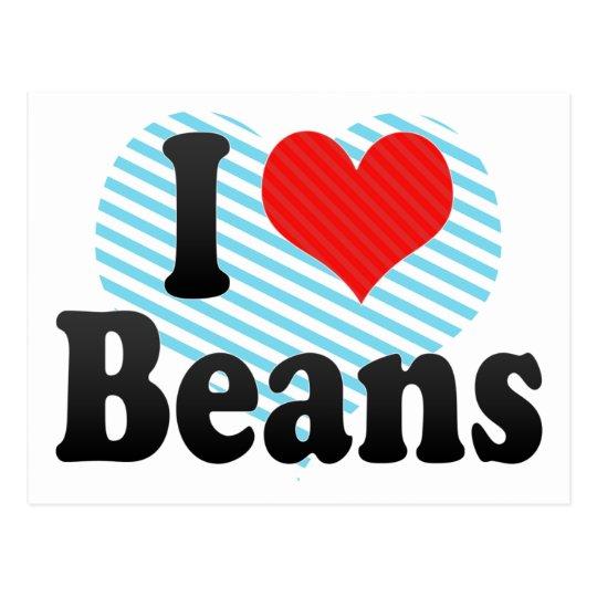 I Love Beans Postcard