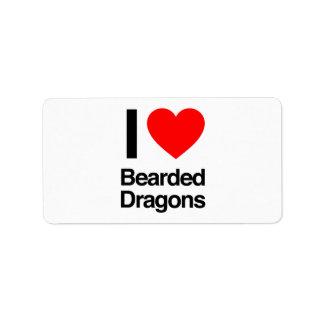 i love bearded dragons label