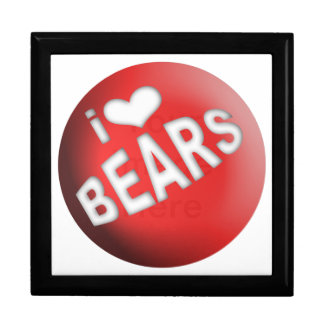 I LOVE BEARS BALL GIFT BOX