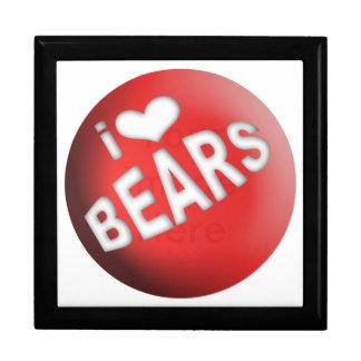 I LOVE BEARS BALL JEWELRY BOXES