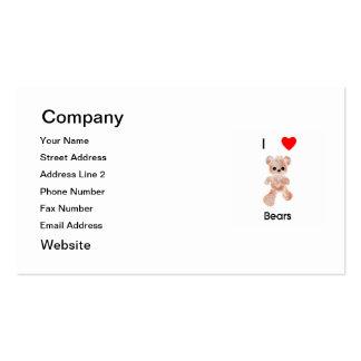 I love bears business cards