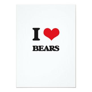 """I love Bears 5"""" X 7"""" Invitation Card"""