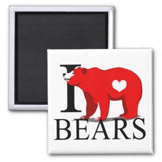 I Love Bears Magnets
