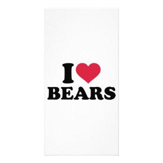 I love bears customized photo card