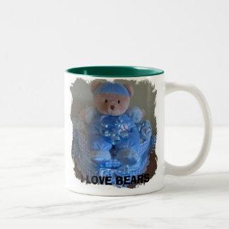 I LOVE BEARS Two-Tone COFFEE MUG