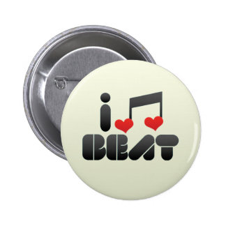 I Love Beat Pins