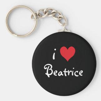 I Love Beatrice Basic Round Button Keychain