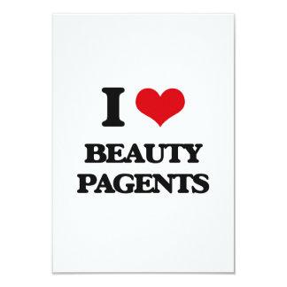 """I Love Beauty Pagents 3.5"""" X 5"""" Invitation Card"""