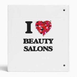 I Love Beauty Salons Vinyl Binder