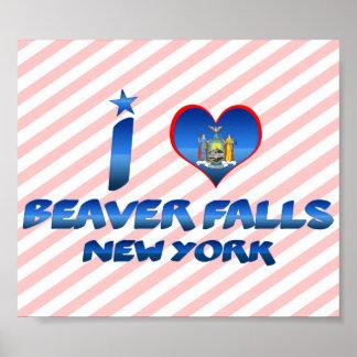 I love Beaver Falls, New York Poster
