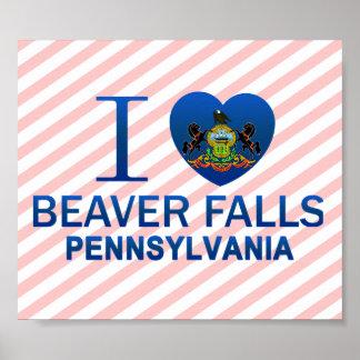 I Love Beaver Falls, PA Poster