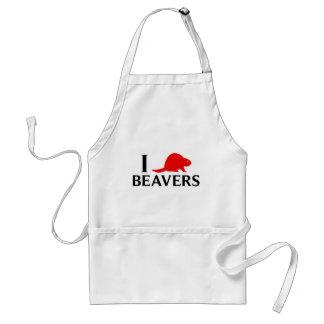 I Love Beavers Standard Apron
