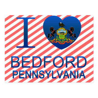 I Love Bedford, PA Postcard