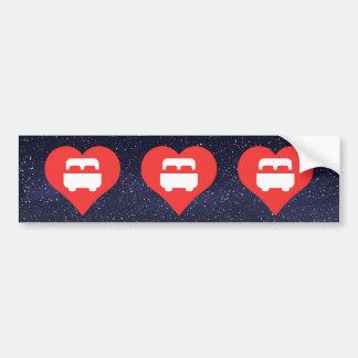 I Love Bedrooms Bumper Sticker
