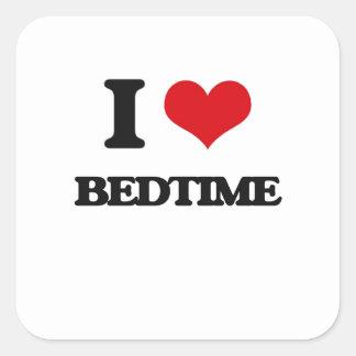 I Love Bedtime Square Sticker