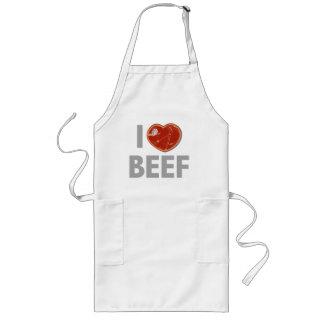 I Love Beef Long Apron