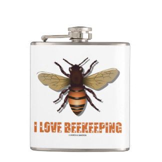 I Love Beekeeping Bee Attitude Apiarist Hip Flask