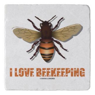 I Love Beekeeping Bee Attitude Apiarist Trivet