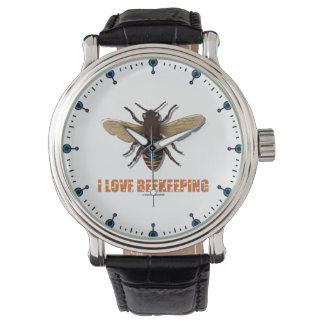 I Love Beekeeping Bee Attitude Apiarist Wristwatch