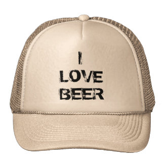 I LOVE BEER CUP HAT