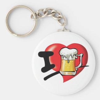 I Love Beer Keychain