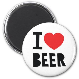 I love beer fridge magnet