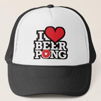 I Love Beer Pong v2 - Red Trucker Hat