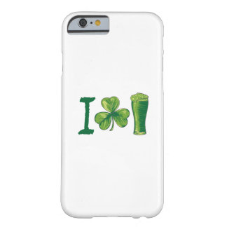 I Love Beer St. Patrick's Day Shamrocks Funny Barely There iPhone 6 Case