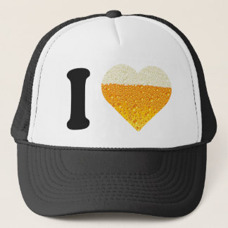 I LOVE BEER TRUCKER HAT
