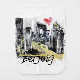 I love Beijing Burp Cloth