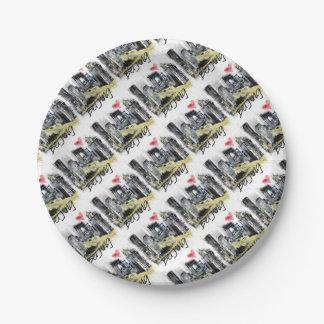 I love Beijing Paper Plate