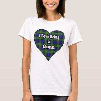 I Love Being a Gunn Clan Tartan T-Shirt