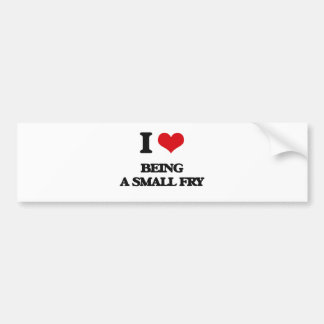 I love Being A Small Fry Bumper Stickers
